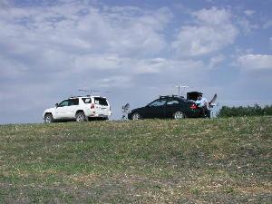 Dike Berm near Grand Forks